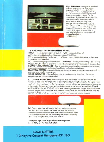 Cassette Back Cover 2 (Gamebusters Release)