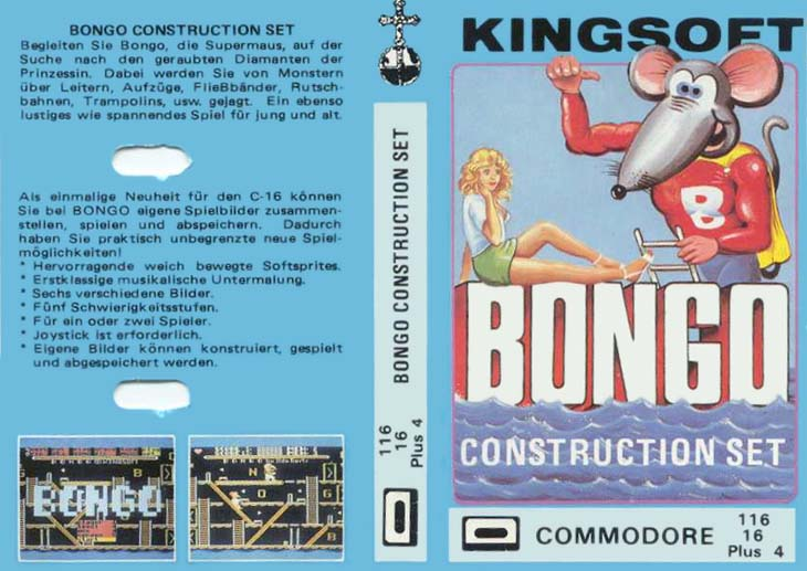 Cassette Front Cover (Bongo Construction Set Release)
