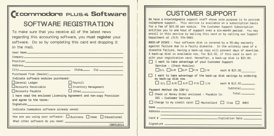 Software Registration and Customer Support