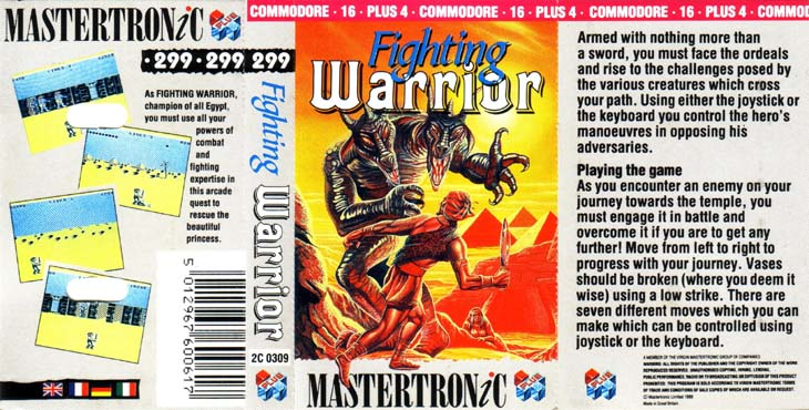 Cassette Front Cover (Mastertronic Release)