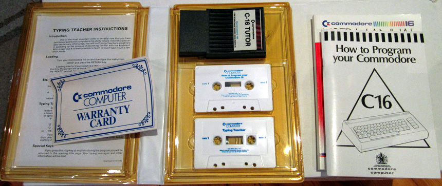 Box Content (Commodore 16 Learner Pack)