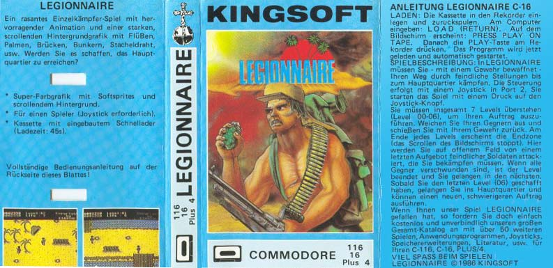 Kingsoft Release (German) Casette Cover