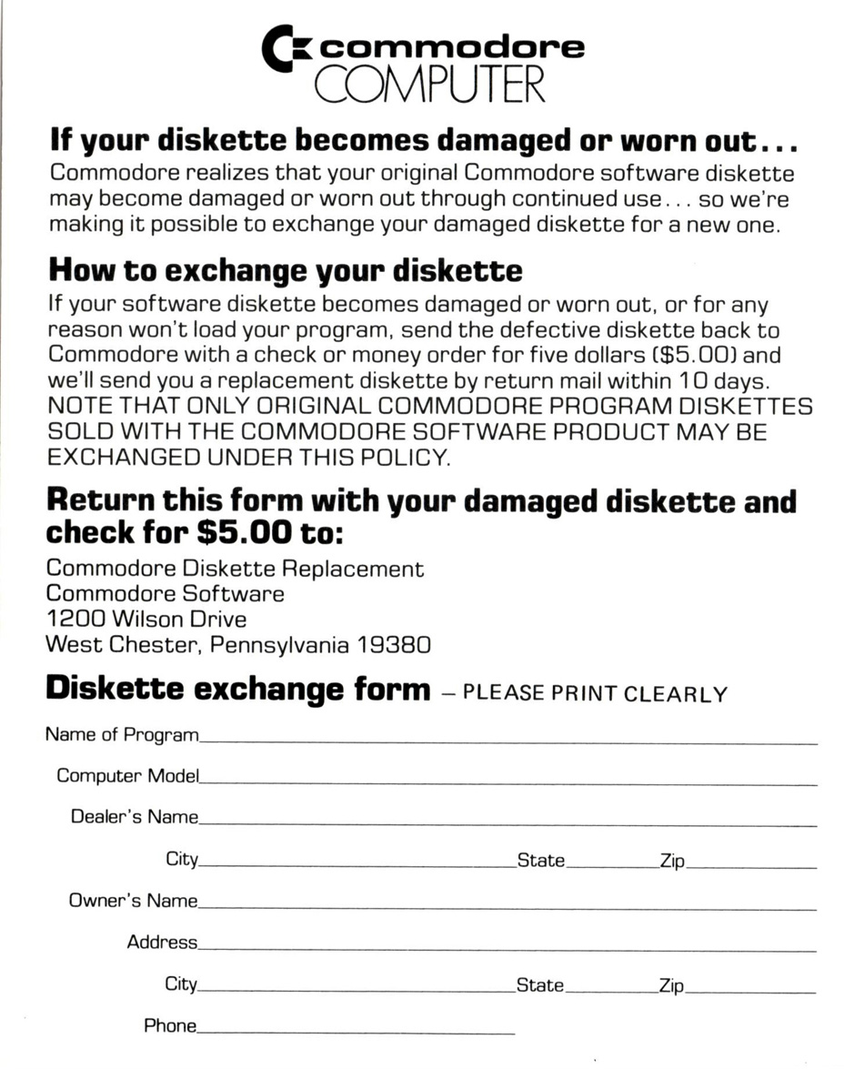 Diskette Exchange Coupon