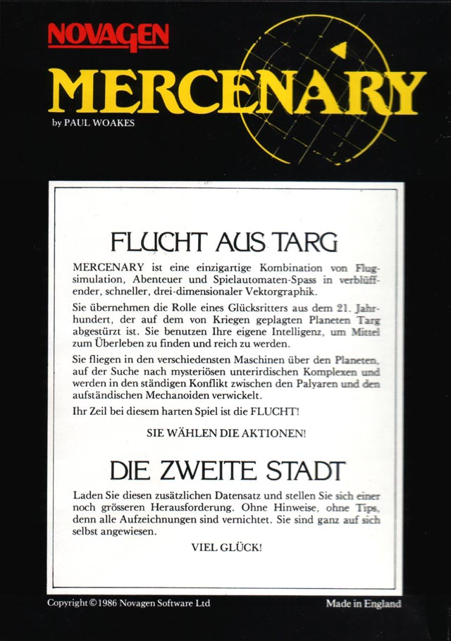 Back Cover (German Compendium Edition)