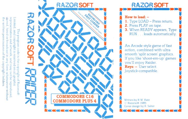 Original Cassette Cover (Razorsoft)