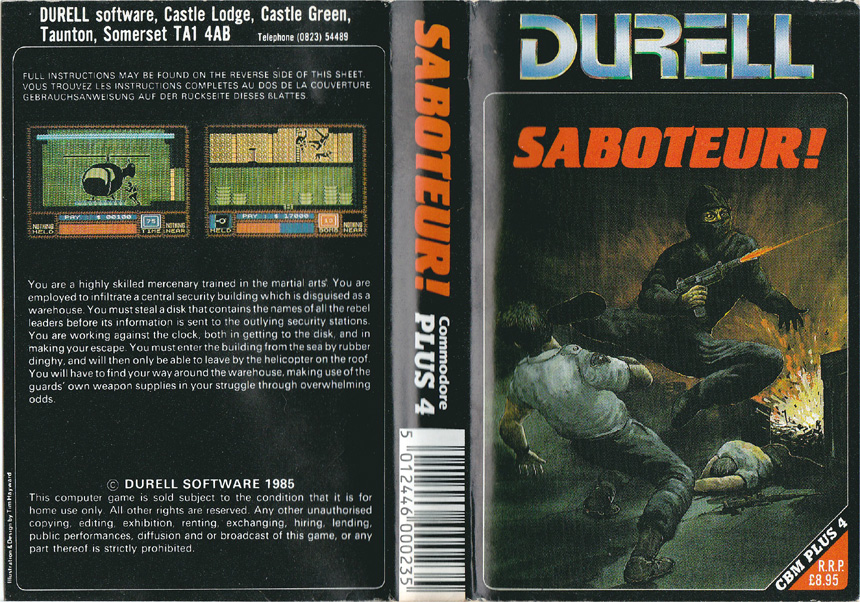Cassette Cover (Durell Plus/4 Only Release)