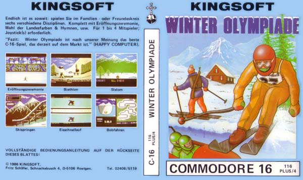 Winter Olympiade Cassette Cover (German Release)