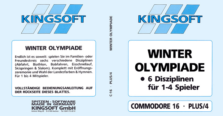 Winter Olympiade Disk Cover