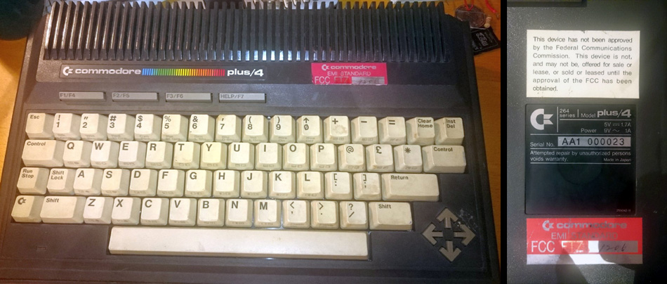 Early Commodore Plus/4