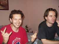 Beast and Unreal at a copyparty in 2003.