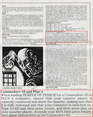 Temple of Terror Manual